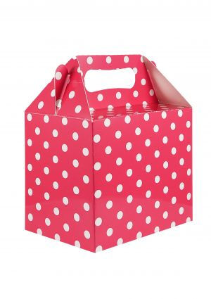 Hot Pink Polka Dot Party Box