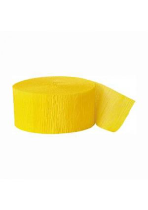 Hot Yellow Crepe Paper Streamer