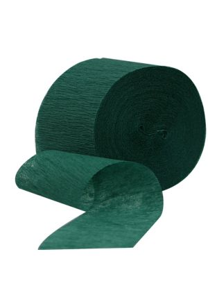 Hunter Green Crepe Paper Streamer