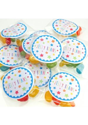 Jelly Bean Sweets Blue Stars