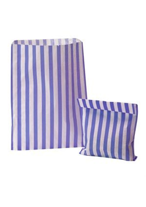 Lilac Candy Striped Treat Bag