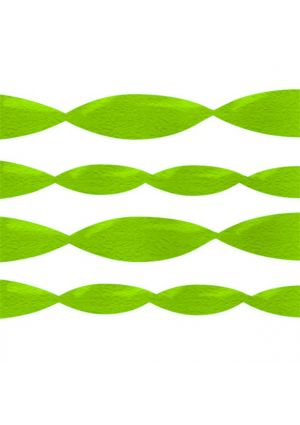 Lime Green Crepe Paper Streamer