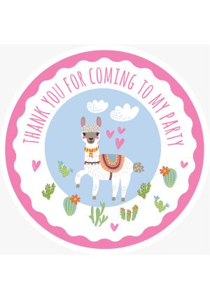 Llama Party Label