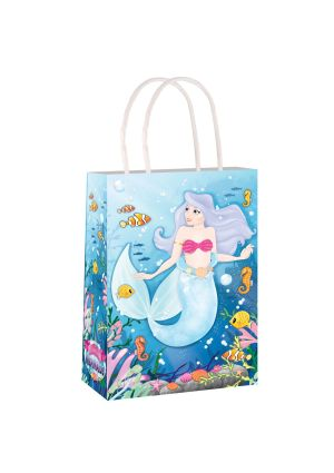 Mermaid Paper Party Bag with Twisted Handles