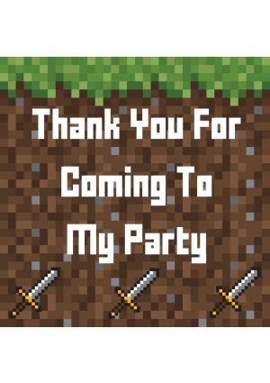Minecraft Style Party Label