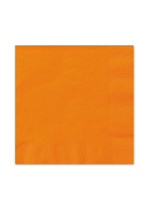 Orange Lunch Napkins 20pk
