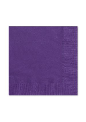 Purple Lunch Napkins 20pk