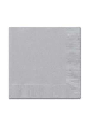 Silver Lunch Napkins 20pk