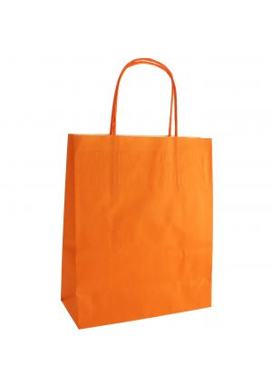 Orange Paper Party Bag with Twisted Paper Handles