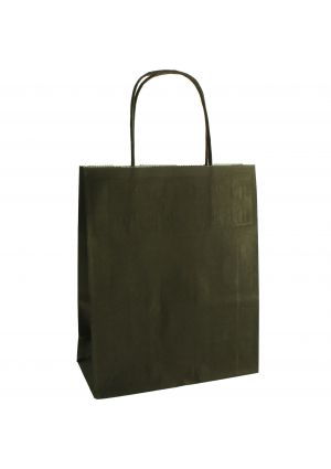 Black Paper Bag with twisted handles