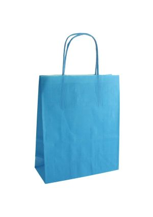 Sky Blue Paper Party Bag with Twisted Paper Handles