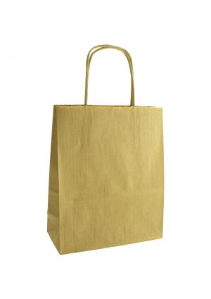 Brown Kraft Paper Party Bag with Twisted Paper Handles