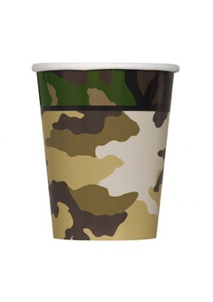 New Camouflage Party Paper Cups