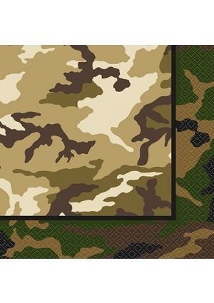 New Camouflage Party Napkins