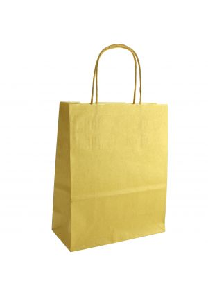 Gold Paper Party Bag with Twisted Paper Handles