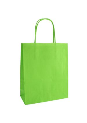 Lime Green Paper Party Bag with Twisted Paper Handles