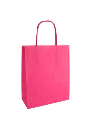 Pink Paper Party Bag with Twisted Paper Handles