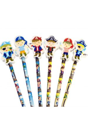 Pirate Pencil with Eraser Topper