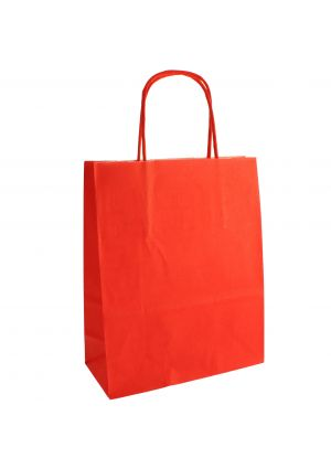 Red Paper Party Bag with Twisted Paper Handles