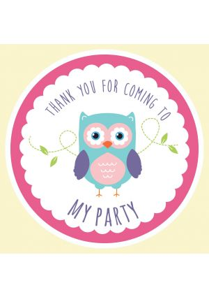 Owl Party Label
