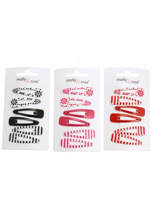 A Pack of 6 Assorted Hair Clips