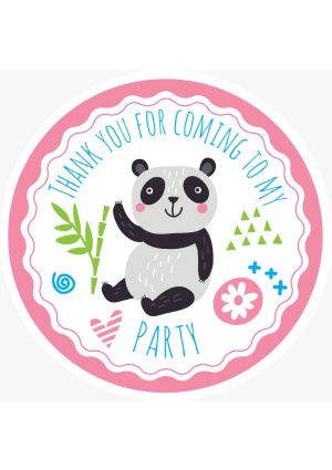 Panda Party Label