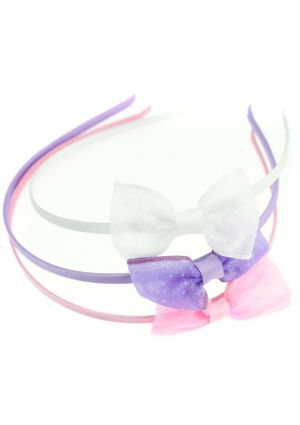 Aliceband with small sequin side bow