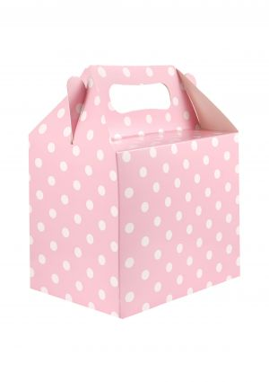 Pastel Pink Polka Dot Party Box