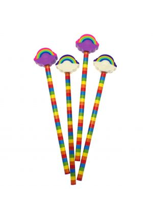 Rainbow Eraser Topper Pencil