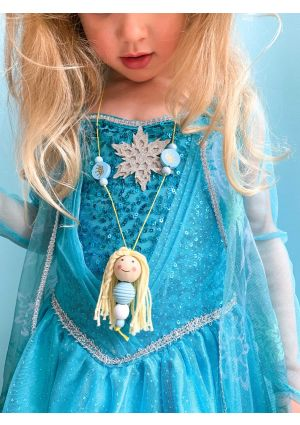 Wooden Bead Doll Necklace - Elsa - DIY Kit