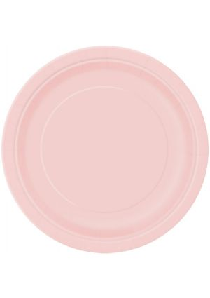 Lovely Pink Paper Plates 23cm - 16pk