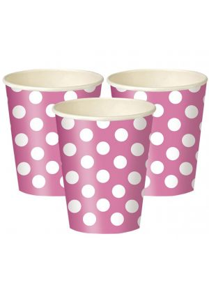 Pink Polka Dot Paper Party Cups