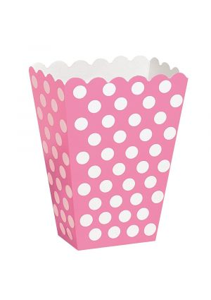 A Pack of 8 Pink Polka Dot Treat Boxes