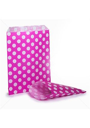 Bright Pink Spotty Treat Bag