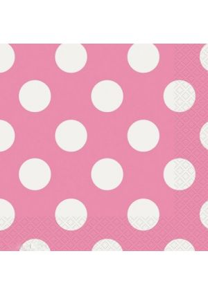 Pink Polka Dot Lunch Napkins