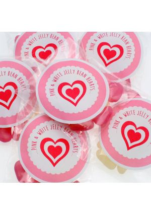 Pink & White Jelly Bean Hearts