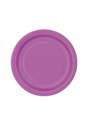 Pretty Purple Paper Plates 17cm - 20pk