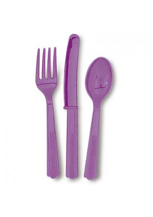 Pretty Purple Cutlery 18pk