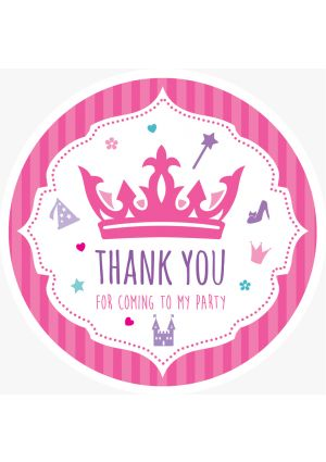Princess Party Label