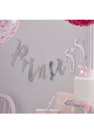 Princess Perfection Silver Paper Bunting