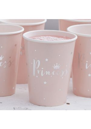 Princess Perfection Paper Party Cups - 8pk