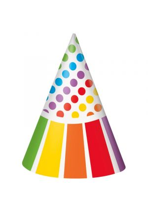 Rainbow Cone Party Hats