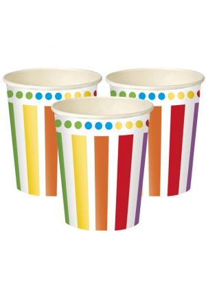 Rainbow Paper Party Cups