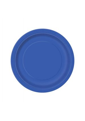 Royal Blue Paper Plates 17cm - 20pk