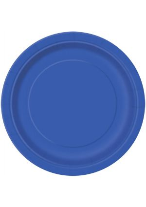Royal Blue Paper Plates 22cm 16 Pack