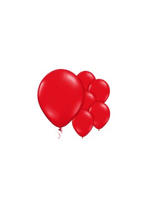 A Pack of 10 Scarlet Red Helium Quality Balloons