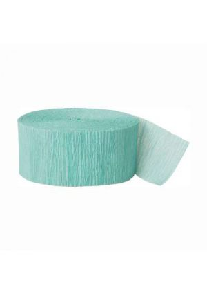 Sea Foam Crepe Paper Streamer