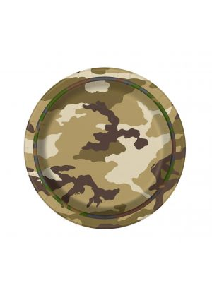 New Camouflage Party Paper Plates 17cm 8 Pack