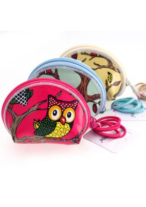 Owl Purse with Hair Elastics