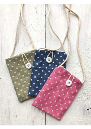 Polka Dot Cotton Purse